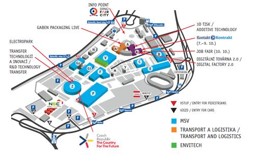Mapa Mezinárodní strojírenský veletrh 2019   ORBIT