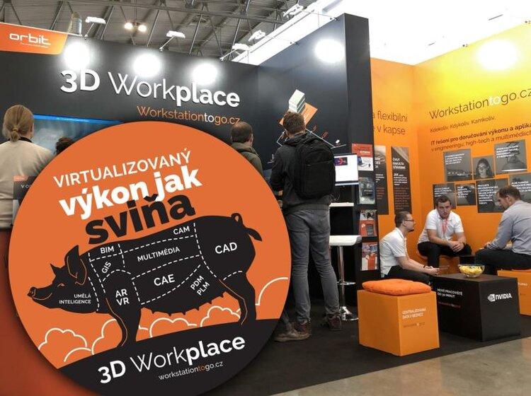 3D Workplace na MSV 2019: virtualizovaný výkon jak sviňa | ORBIT